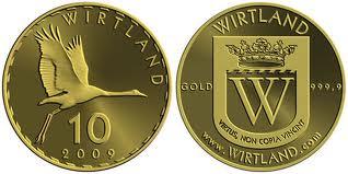 Золотая и серебряная валюта первого виртуального государства Виртландии
